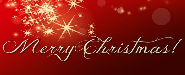 merry christmas greeting banner image